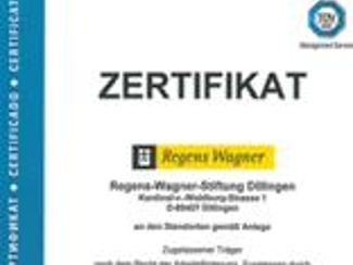 AZAV - Regens Wagner als Bildungsträger erfolgreich zertifiziert!